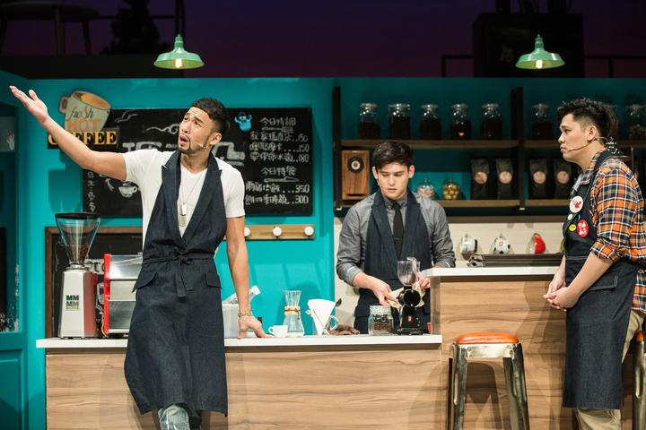天作之合劇場推出音樂劇《寂寞瑪奇朵》,以咖啡店為場景,藉由各式各樣的情感關係,道出城市人們對愛的渴求。圖/天作之合提供