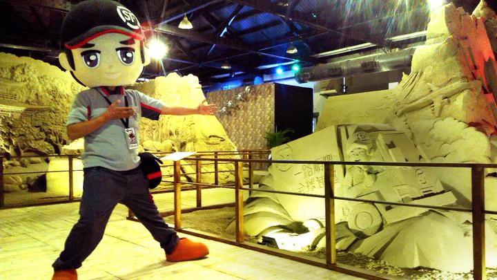 歡慶農曆新年,台灣順豐在高雄駁二推出3D動態沙雕展。(台灣順豐 / 提供 )