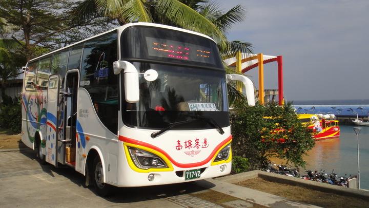 小琉球環島公車。記者蔣繼平/攝影