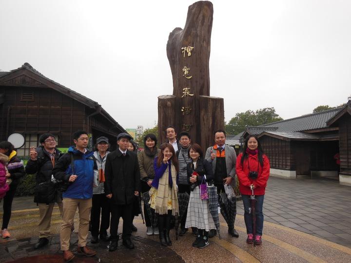 日本黑部峽谷鐵路及富山縣廳首度率鐵道迷與日本媒體,參訪姐妹鐵道阿里山森林鐵路。照片嘉義林區管理處擔供