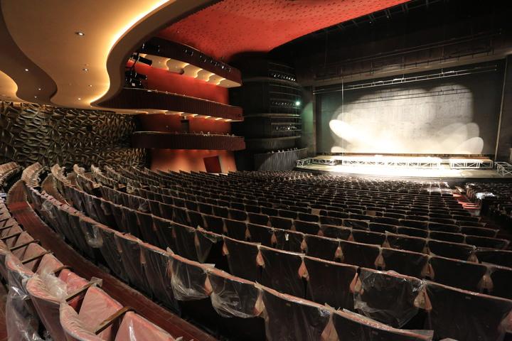 台中國家歌劇院年底開幕,大劇院一共2014席,舞台工程即將完工。記者喻文玟/攝影