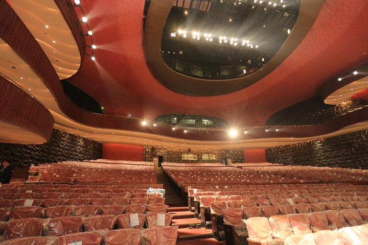 台中國家歌劇院年底開幕,大劇院一共2014席。記者喻文玟/攝影
