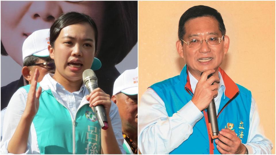 (左)呂孫綾與(右)吳育昇。資料照片 記者林昭彰/攝影