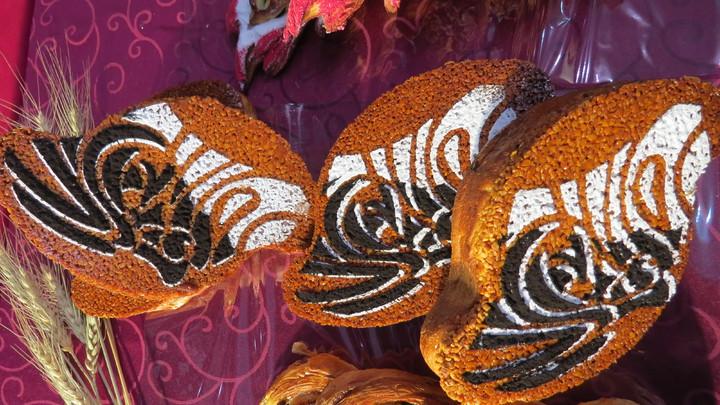 陳有誌利用家鄉味的金棗製作有層次的香味,「台灣臉譜」作品讓世界麵包賽評審驚艷。記者范榮達/攝影
