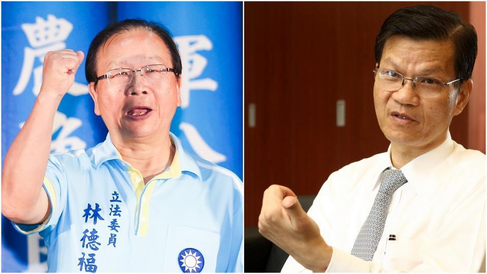 資料照片(左)林德福。記者鄭清元/攝影(右)翁啟惠。記者徐世經/攝影