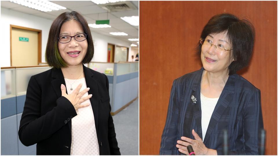 資料照片 (左)民進黨立委管碧玲。記者林澔一/攝影 (右)法務部部長羅瑩雪。記者林伯東/攝影