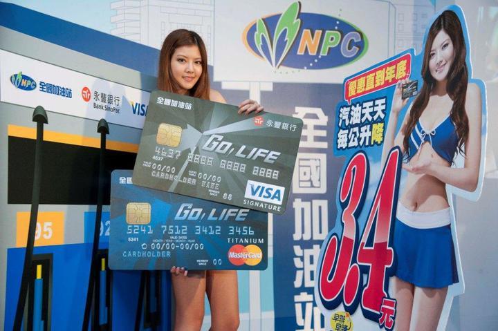 永豐銀當年與全國加油站合作推出「永豐全國加油GO! LIFE聯名卡」加油,每公升降價最高3.4元,吸引市場目光。  照片提供/永豐銀