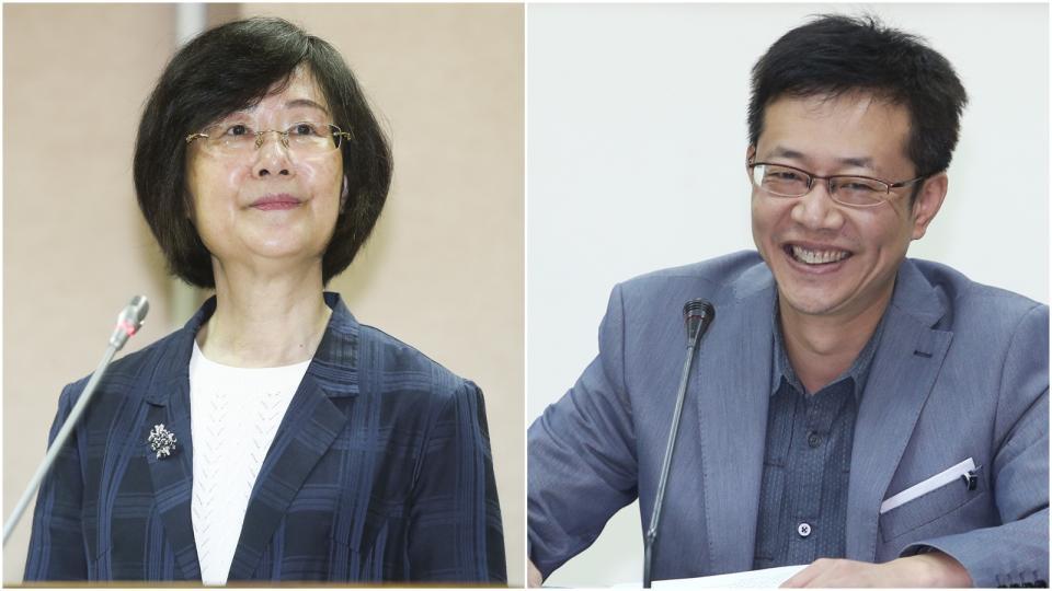 資料照片 (左)羅瑩雪。記者楊萬雲/攝影 (右)張宏陸。記者陳易辰/攝影