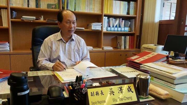 內部政部長一職,吳澤成說,他已傳簡訊請蔡主席不要再為他安排任何職務。記者廖雅欣/攝影