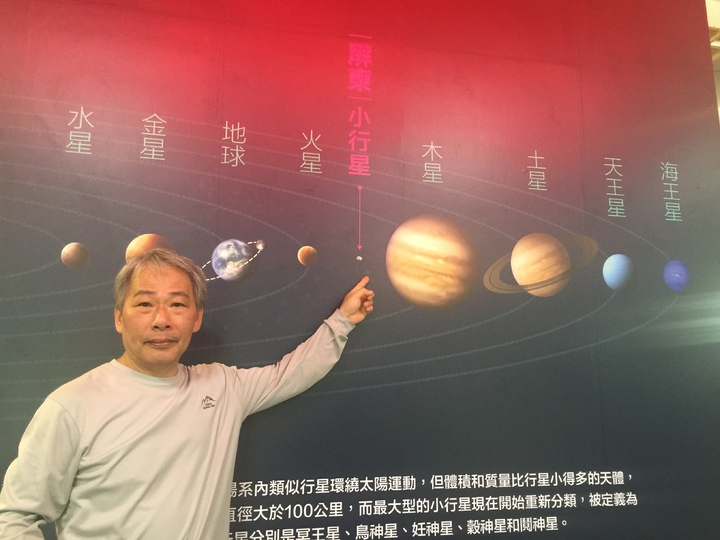 鹿林天文台觀測員林啟生已發現300多顆小行星。記者翁禎霞/攝影