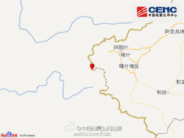 新疆阿克陶縣發生4.0級地震(網路照片)
