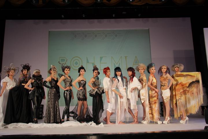 弘光科大美髮系第三屆畢展以波希米亞風為主題,展現專業及創意。記者余采瀅/攝影