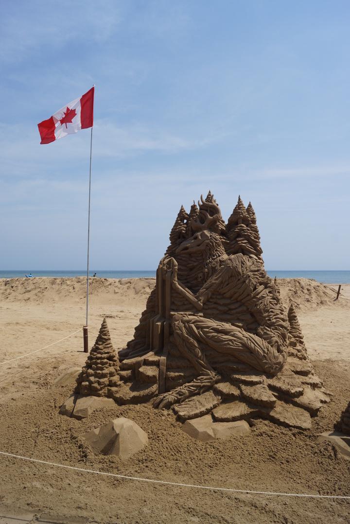 第3名則是加拿大籍的Guy Olivier Deveau創作的「溫迪哥」。記者曾健祐/攝影