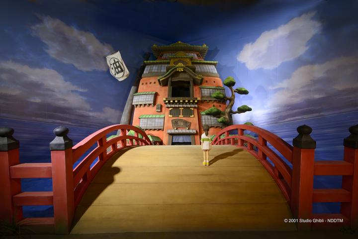 「吉卜力的動畫世界」特展「神隱少女」展場實景照。圖/聯合報系提供