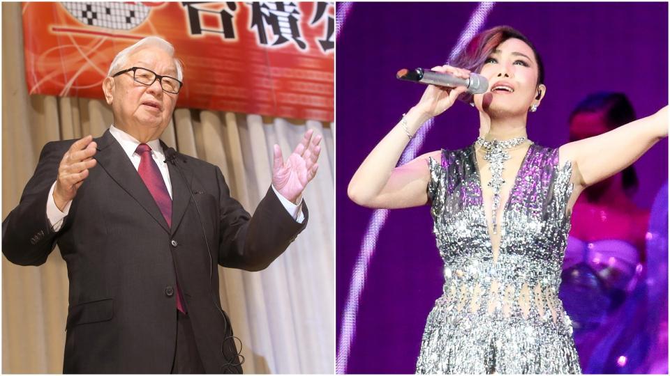 資料照片 (左)張忠謀。記者高彬原/攝影(右)江蕙。記者程宜華/攝影