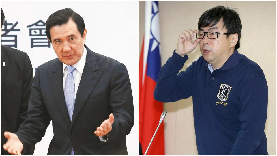 資料照片 (左)馬英九。記者王騰毅/攝影(右)段宜康。記者高彬原/攝影