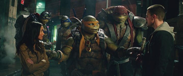 史蒂芬艾梅爾(右)加入「忍者龜:破影而出」。圖/UIP提供