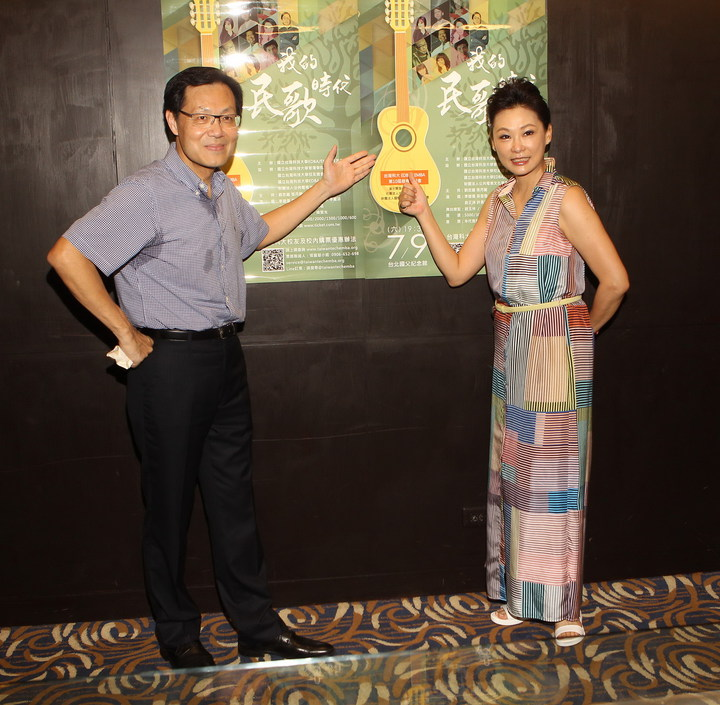 劉忠繼及張月麗為母校台灣科技大學,籌辦民歌慈善演唱會。圖/台科大EDBAEMBA校友會提供