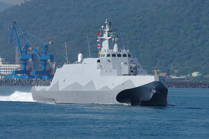 沱江號飛彈巡邏艦。(記者程嘉文攝影)