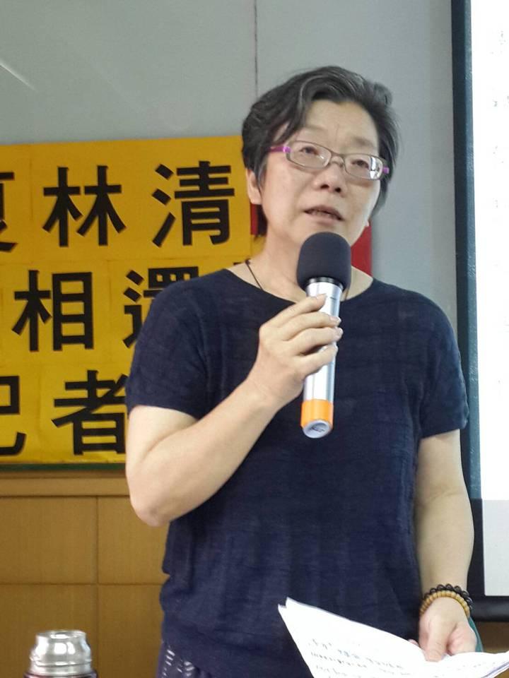 夏林清今天以個人名義開記者會。記者鄭語謙/攝影