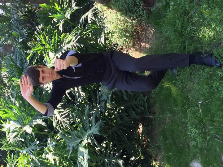 賈斯汀曾在美學過功夫,大秀螳螂拳大展身手。記者陳慧貞/攝影