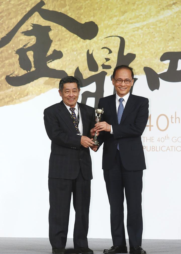 行政院長林全到場致詞,並親自頒獎給陳隆昊。記者杜建重/攝影