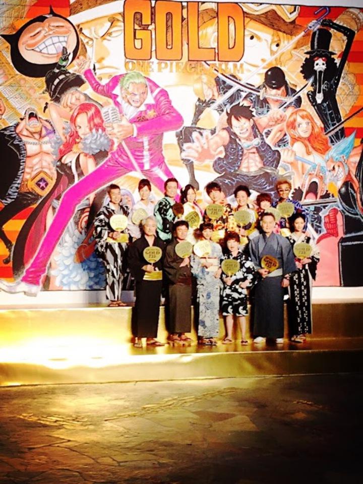 航海王最新劇場版日本聲優隊員與導演宮元宏彰一行人盛大造勢。睿客新創/提供