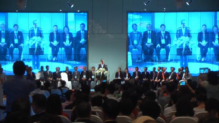 副總統陳建仁今天到台中出席活動,重申新南向政策的重要性。記者蘇木春/攝影