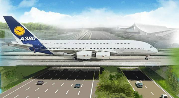 桃園機場公司規畫新建第三航廈,滑行道將搬遷,配合工程進行,車輛進出機場路線將調整。圖/桃園機場公司提供