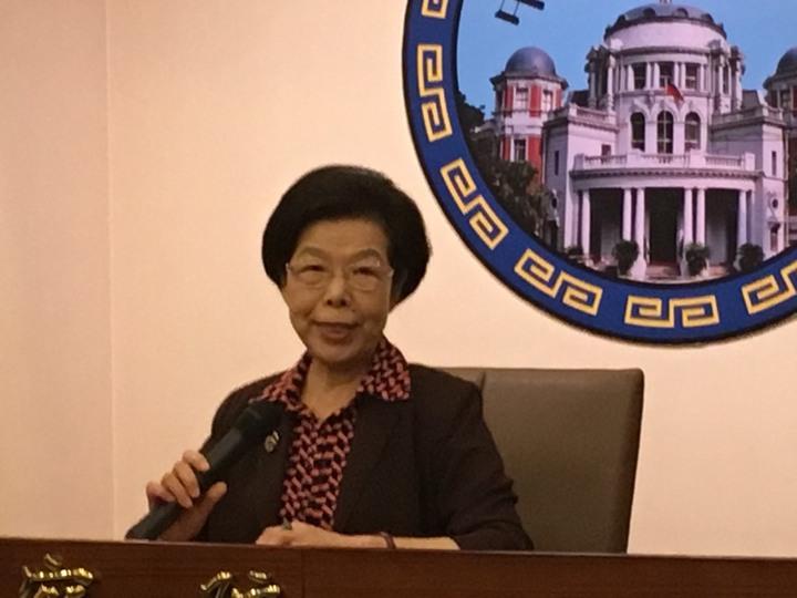 監察院長張博雅上午在監察院舉行簡短記者會。記者李順德/攝影