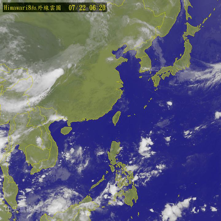 今天起一周各地大多為晴到多雲、高溫炎熱的天氣。圖/翻攝自中央氣象局網站