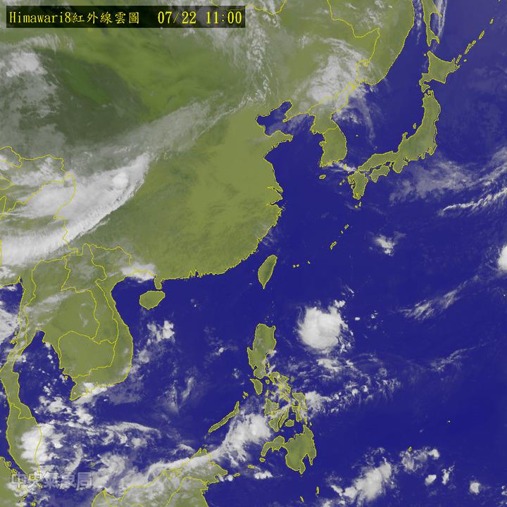 今天各地大多為晴到多雲、高溫炎熱的天氣。圖/翻攝自中央氣象局網站