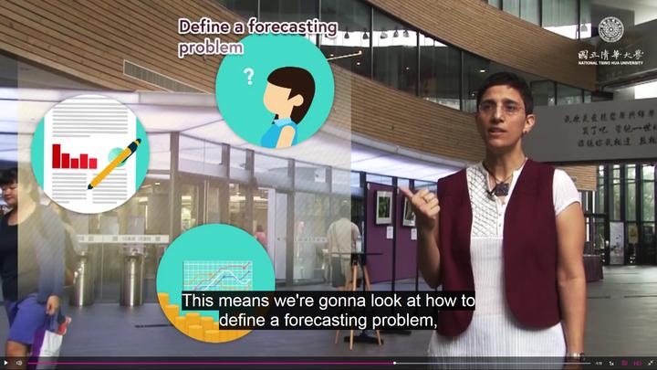 清大本月和英國最大線上教學平台FutureLearn簽約,首堂課程由清大科技管理學院服務科學研究所特聘教授徐茉莉開設「應用預測方法和商業分析」。圖/清大提供