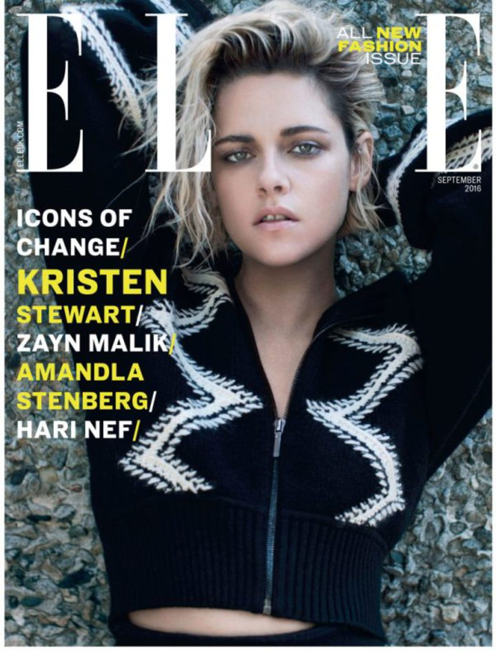 「暮光女」克莉絲汀史都華登上最近一期「ELLE」雜誌封面。圖/摘自網路