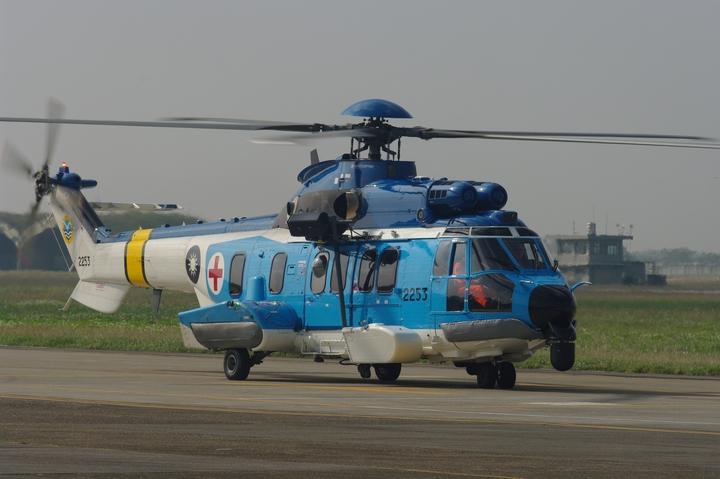 空軍共有三架EC225,編號2251至2253。(記者程嘉文攝影)