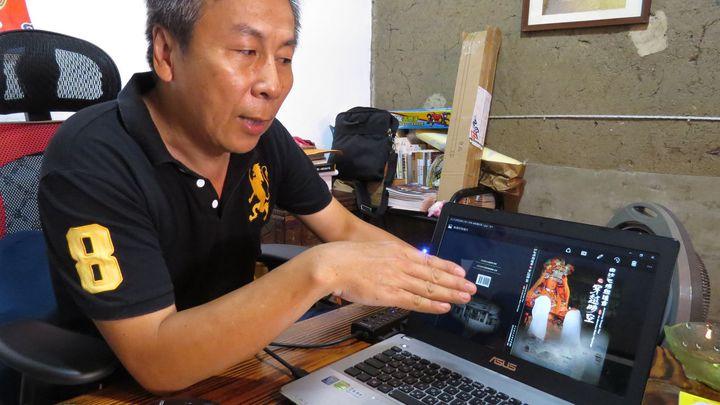 白沙屯媽祖進香之穿越時空新書,已完成編纂付印,即日起受理前1000名網路預購。 記者張弘昌/攝影