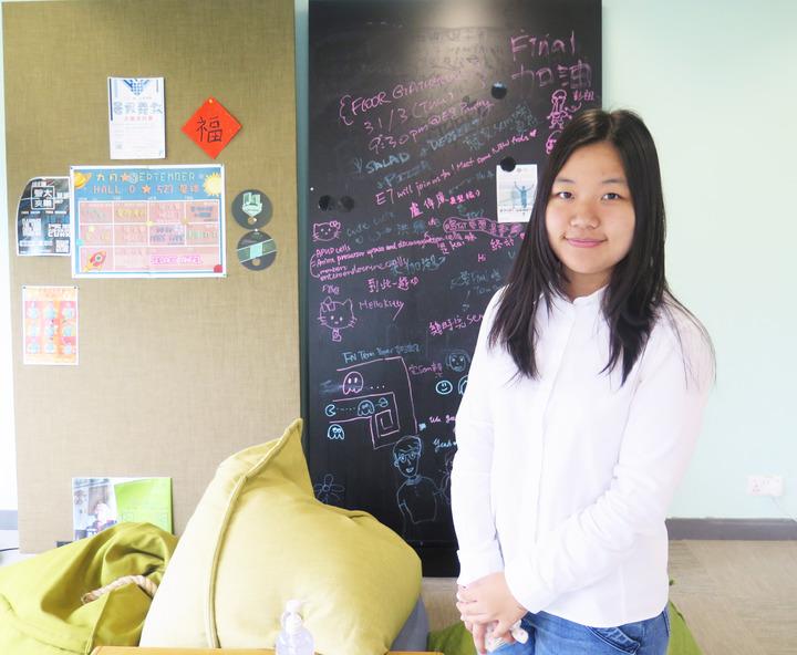 中山女高畢業的侯又嘉捨清大到香港中大讀書。記者王彩鸝/攝影