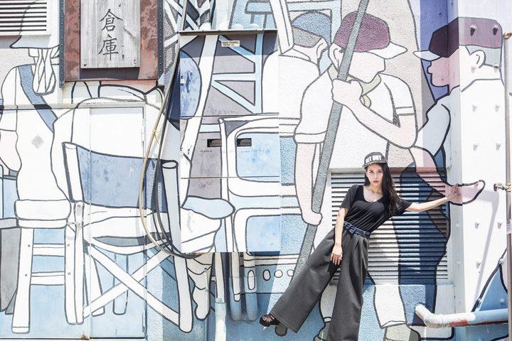 張恩嬅本月串聯台灣20位新銳服裝設計師,以時尚旅遊的方式展演秋冬新裝,透過張恩嬅獨特氣質展示台灣設計師之美,結合台灣特有的美景與在地文化,今天首度發表作品。圖/張恩嬅經紀人提供