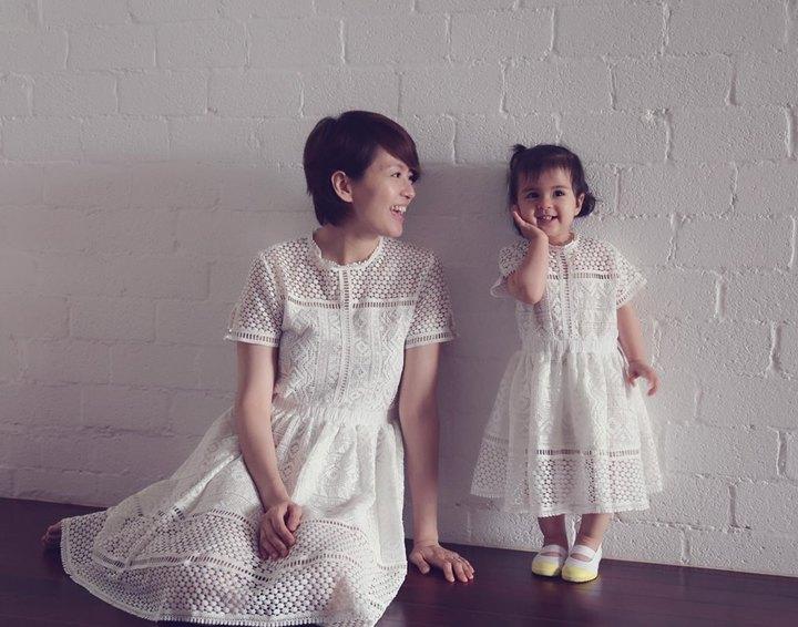 梁詠琪和女兒感情好。圖/摘自臉書