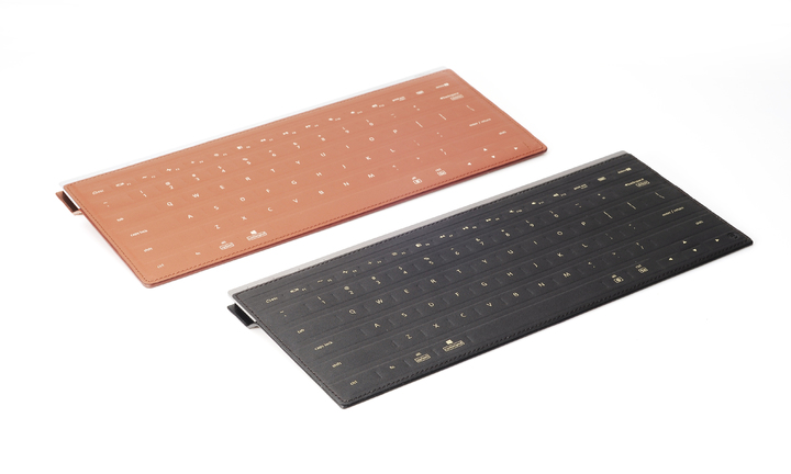和碩聯合科技(4938)PEGACASA設計團隊以PulsumType超薄皮革感壓鍵盤獲得美國傑出工業設計獎(IDEA)電腦設備類別銀獎。照片/和碩集團提供。