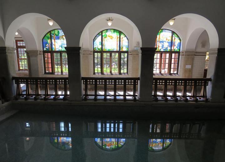 北投溫泉博物館的公共浴場注滿水。圖/翻攝自北投溫泉博物館臉書