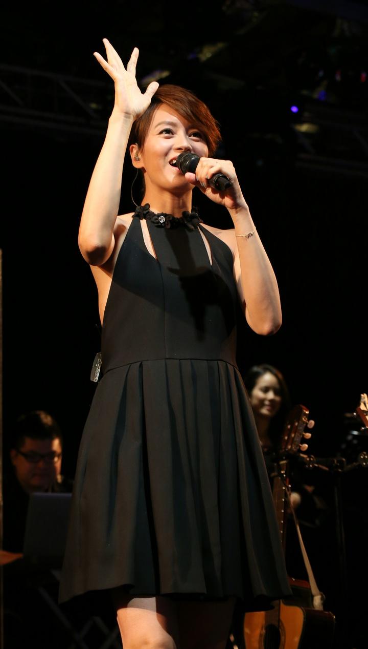 梁詠琪於Legacy舉辦音樂會。記者陳立凱/攝影