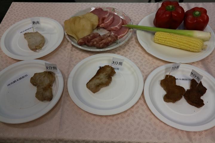 烤肉千萬別吃烤焦肉,經實驗證明,會釋出大量致癌物質。記者陳雨鑫/攝影