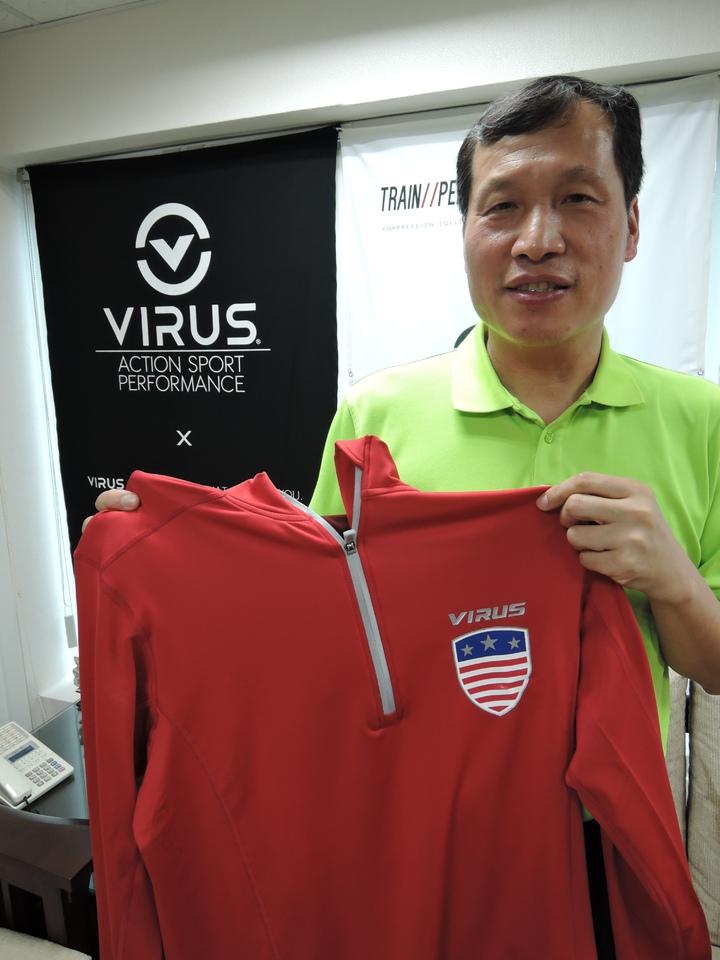 今年美國隊的奧運外套特別採用百樂仕的咖啡紗產品。記者陳珮琦/攝影