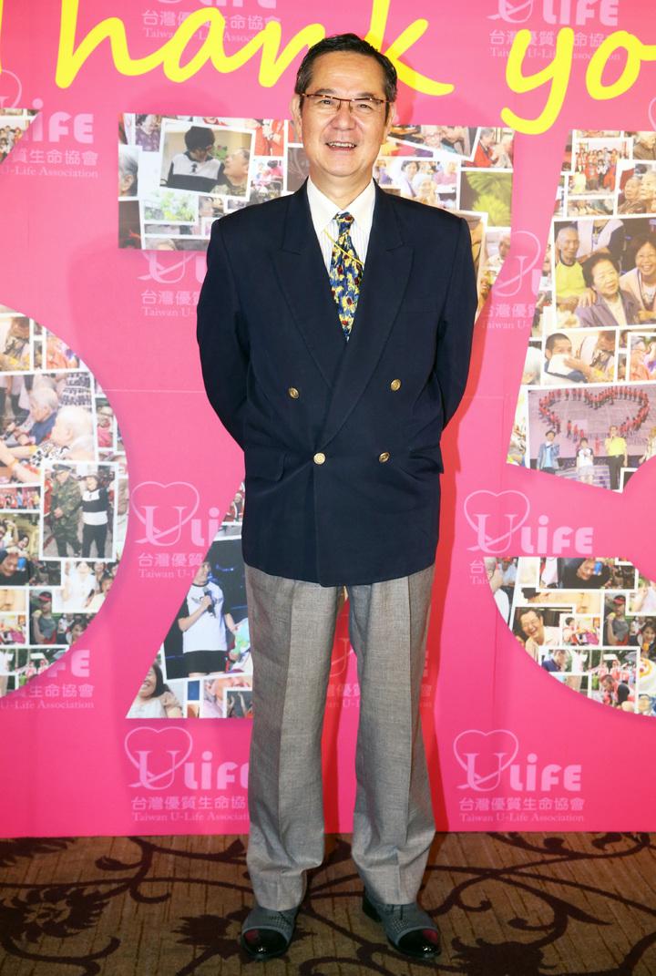 本屆金鐘評審巴戈(圖)下午以台灣優質生命協會理事長身分出席「謝謝您感恩餐會」。記者胡經周/攝影