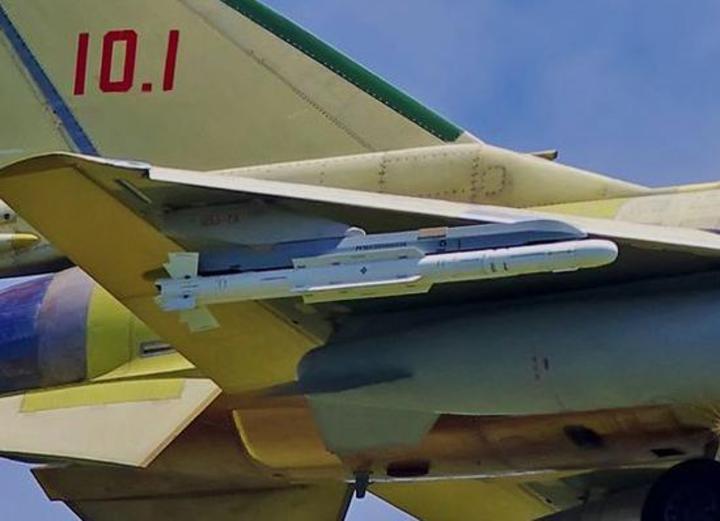 霹靂-10空對空飛彈。(觀察者網)
