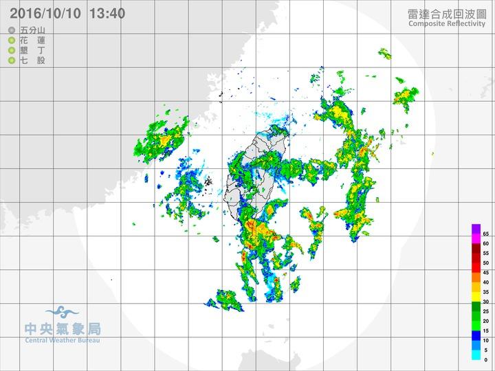 今天北部及東北部地區有短暫雨,東部、東南部及南部地區有短暫陣雨,其他地區亦有局部短暫陣雨。圖/翻攝自中央氣象局網站