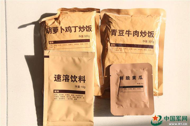 中共武警13式新型野戰食品包。(中國軍網)