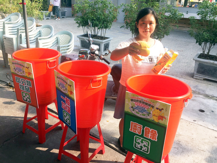 現場設有簡易回收設施。圖/高雄市環保局提供
