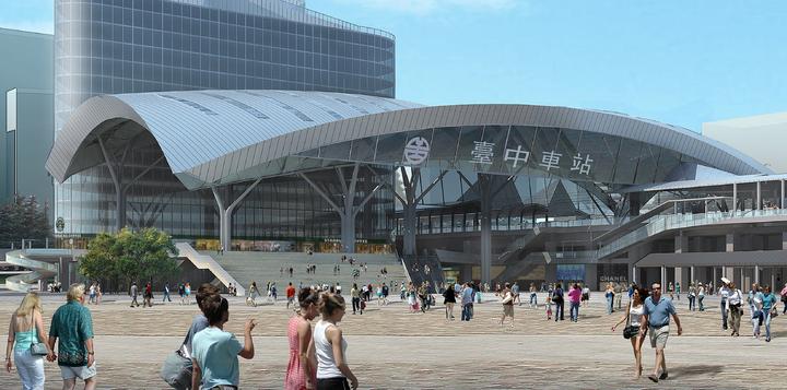 新台中火車站的新造型要兩年後才能完全呈現。圖/張樞提供